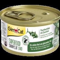 Консерви за котки – филе от риба тон с тиквички 70 г – GimCat Superfood ShinyCat Duo