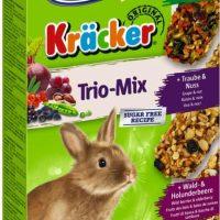 Храна за декоративни зайци Vitakraft Trio Mix – 3бр Крекер зеленчуци, ядки, горски плодове