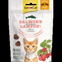 GimCat Crunchy Snack – Хрупкави лакомства за котки със сьомга и малини, 50 г