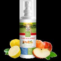 P-Off Site Spray – Отблъскващ спрей 100 мл (срещу нежелано уриниране на определени места) – GimDog Natural Solutions – с лимон, портокал и ябълков оцет