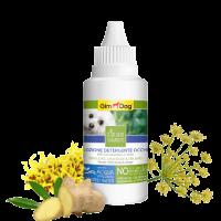 Лосион за почистване на очи за кучета 50 мл – GimDog Natural Solutions – с див копър, хамамелис и джинджифил