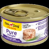 GimDog Little Darling Pure Delight – Консервирана храна за кучета от дребни породи, с пилешко и риба тон, 85 г