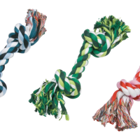 GimDog Cotton Dent – играчка за куче, дърпалка въже с 2 възела, 15 см