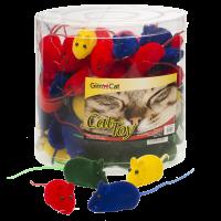 GimCat Играчка за котка – цветна мишка с пищялка