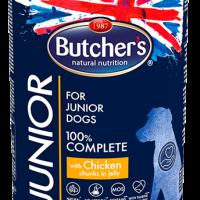 Butche Functional Junior 400г – Хапки в желе за подрастващи кучета, с пилешко