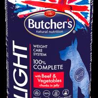 Butchers Functional Light 400г – Хапки в желе за кучета, лека храна с говеждо и зеленчици