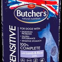 Butchers Functional Sensitive 390г – Пастет за чувствителни към храната кучета, с агнешко и ориз