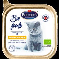 Butcher  Bio Foods – Био пастет за котки с пилешко, от органични съставки- 85г