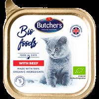 Butcher Bio Foods 85г – Био пастет за котки с говеждо, от органични съставки