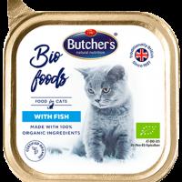 Butcher Bio Foods 85г – Био пастет за котки с риба, от органични съставки
