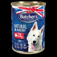 Butchers Natural & Healthy Pate 390г – Пастет за кучета с говеждо и ориз