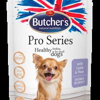 Butcher's Pro Series 100г – Хапки в сос Грейви за кучета от дребни породи, с агнешко и грах