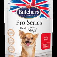 Butchers Pro Series 100г – Хапки в сос Грейви за кучета от дребни породи, с говеждо