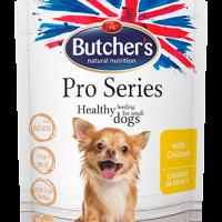 Butcher's Pro Series 100г – Хапки в сос Грейви за кучета от дребни породи, с пилешко
