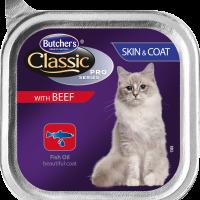 Butcher's Classic Pro Series Skin&Coat 100г – Пастет за котки за здрава кожа и козина, с говеждо