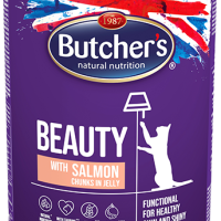 Butcher Functional Beauty 400г – Хапки в желе за котки, със сьомга
