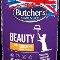Butcher Functional Beauty 400г – Хапки в желе за котки, с пиле