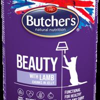 Butcher  Functional Beauty 400г – Хапки в желе за котки, с агнешко