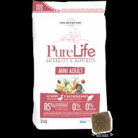 Пълноценна храна за кучета от дребни породи, 2 кг – Pro-Nutrition Flatazor PureLife Mini Adult – без зърнени храни, 85% протеини от животински произход