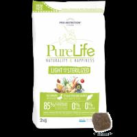 Пълноценна храна за кучета със склонност към наднормено тегло и/или кастрирани кучета, 2 кг – Pro-Nutrition Flatazor PureLife Light/Sterilized – без зърнени храни, 85% протеини от животински произход