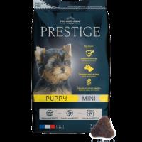 PRESTIGE PUPPY MINI 3 kg Пълноценна храна за подрастващи кученца от дребни породи, както и за женски кучета от дребни породи в края на бременността или през периода на кърмене