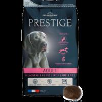 Prestige Adult Lamb & Rice 3кг- Пълноценна храна за пораснали кучета от всички породи. Подходяща също и за чувствителни кучета.
