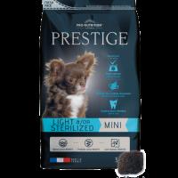 Prestige ADULT MINI LIGHT &/OR STERILIZED  Пълноценна храна за кучета от дребни породи със склонност към напълняване и/или кастрирани кучета  3 kg