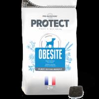Пълноценна диетична храна за кучета с наднормено тегло, 2 кг – Pro-Nutrition Flatazor Protect Obesite – ниска калоричност, гарантирано засищане на глада, 75% протеини от животински произход