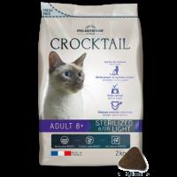 Crocktail ADULT 8+ STERILIZED LIGHT Пълноценна храна за кастрирани котки над 8 години 2 kg
