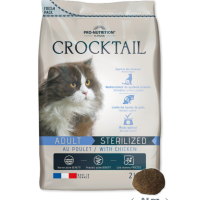 Crocktail ADULT STERILIZED with chicken Пълноценна храна за кастрирани котки С ПИЛЕШКО 2 kg