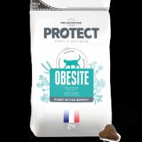 Пълноценна диетична храна за котки с наднормено тегло, 2 кг – Pro-Nutrition Flatazor Protect Obesite – ниска калоричност, гарантирано засищане на глада, 69% протеини от животински произход