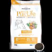 Pure Life Cat STERILIZED С ПАТЕШКО И САРДИНИ 2kg- без зърнени храни, 85% протеини от животински произход