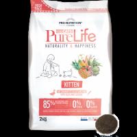 Pure Life KITTEN С ПАТЕШКО И САРДИНИ 2 kg – без зърнени храни, 85% протеини от животински произход