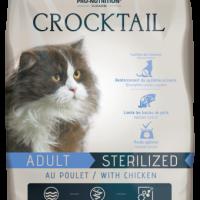 Crocktail ADULT STERILIZED with chicken Пълноценна храна за кастрирани котки С ПИЛЕШКО 10 kg