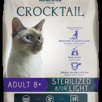 Crocktail ADULT 8+ STERILIZED &/OR LIGHT Пълноценна храна за кастрирани котки над 8 години 10 kg