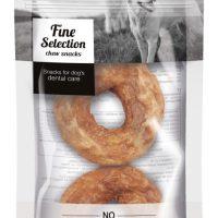 GimDog – FINE SELECTION – Понички (Донутс) за дъвчене от сурова говежда кожа + пиле, 40 г