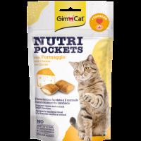 GimCat Nutri Pockets – Хрупкави джобчета със сирене + таурин