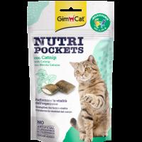 GimCat Nutri Pockets – Хрупкави джобчета с котешка трева (коча билка) + витамини