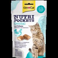 GimCat Nutri Pockets – Хрупкави джобчета Dental с птиче