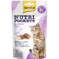 GimCat Nutri Pockets – Хрупкави джобчета с патица + витамини