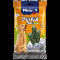 Устна хигиена за кучета > 10кг с мента – Vitakraft Dental 3in1 Fresh Medium 7бр