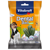 Устна хигиена за кучета 5-10кг с мента – Vitakraft Dental 3in1 Fresh Small 7бр