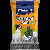 Устна хигиена за кучета < 5кг с мента – Vitakraft Dental 3in1 Fresh ExtraSmall 7бр