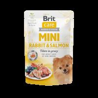 Brit Care Mini Rabbit & Salmon fillets in gravy – пауч за кучета от малките породи със заешко и сьомга
