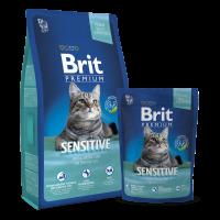 Brit Premium Cat Sensitive – Хипоалергенно агнешко за чувствителни котки 8 кг