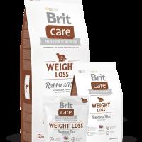 Brit Care Weight Loss Rabbit & Rice – ХИПОАЛЕРГЕННА СУПЕРПРЕМИУМ КОМПЛЕКСНА ХРАНА ЗА ВЪЗРАСТНИ КУЧЕТА ОТ ВСИЧКИ ПОРОДИ С НАДНОРМЕНО ТЕГЛО – 3 кг