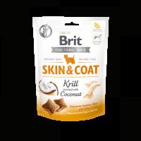 Brit Care Dog Functional Snack Skin&Coat Krill – лакомство за кучета, за кожа и козина с ракообразни и кокос 150гр