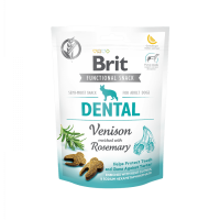 Brit Care Dog Functional Snack Dental Venison – дентално лакомство с еленско и розмарин -150гр.
