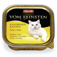 Von Feinsten Castrated за кастрирани котки с пуйка + сирене, 100 гр