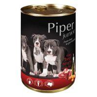 Piper Junior премиум консервирана храна за малки кученца, телешки сърца/моркови -400 гр